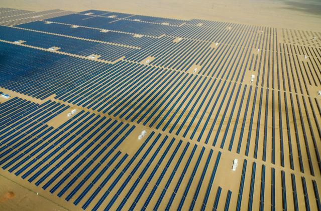 Solar power project in Qinghai Province, China